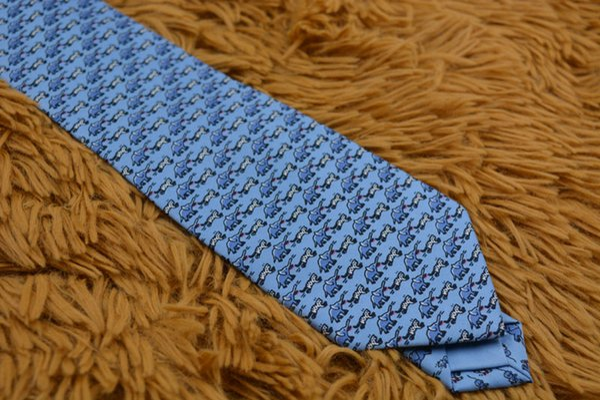 Kadın erkek moda yenilik baskı karakter hayvan Fil çita desen boyun bağları 8 cm sıska ince Tasarımcı kravat