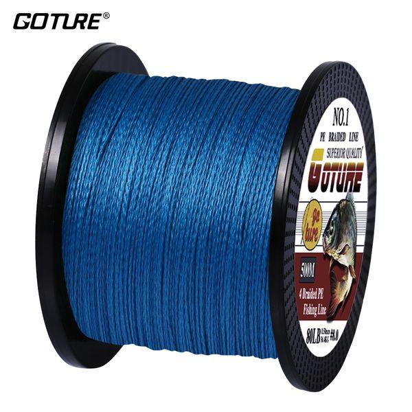 Goture 500 m 4 filamentos 10-80LB trenzado línea de pesca PE multifilamento trenzas para el cordón de pesca linha multifilamento pesca