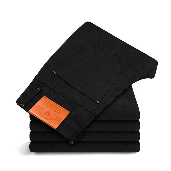 2018 New Spring Autumn Jeans Men High Quality Famous Brand Denim Trousers Soft Mens Pants Men's Fashion Large Big Size
