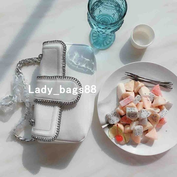 Mulheres Mini Saco de Luxo Genuíno Leahter Designer Handbag Suave Suave Senhora Saco de Cor Pura Bolsa de Moeda Do Cartão de Crédito Preto Branco Cadeia de Bolsa
