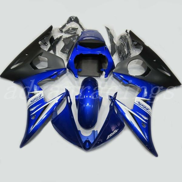 3Gifts Neue ABS-Kunststoffverkleidungen Passend für Yamaha-Verkleidungen YZFR6 2003 2004 Karosserieverkleidung YZF R6 03 04 05 Verkleidungssätze schönes Weiß Blau