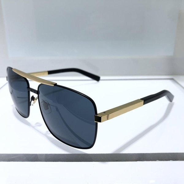 Fashion Luxury Attitude Sunglasses For Men 0260 Square Full Frame Designer Glasses UV400 Protection Gold Plated Frame Come Eyewear With Box