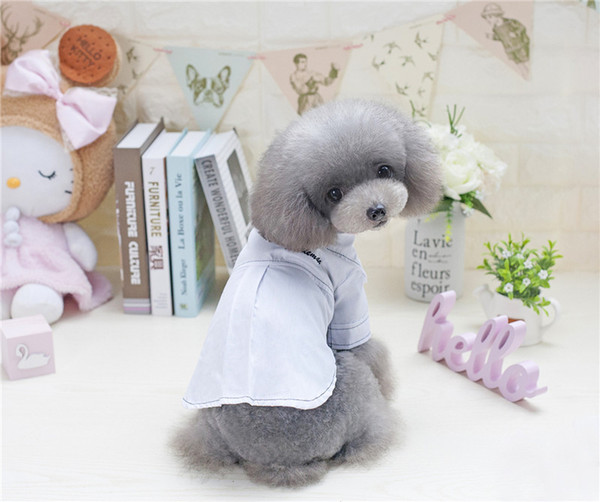 F51c pet cotton summer shirt dog cool T-shirt puppy summer clothes S-2XL new style free shipping