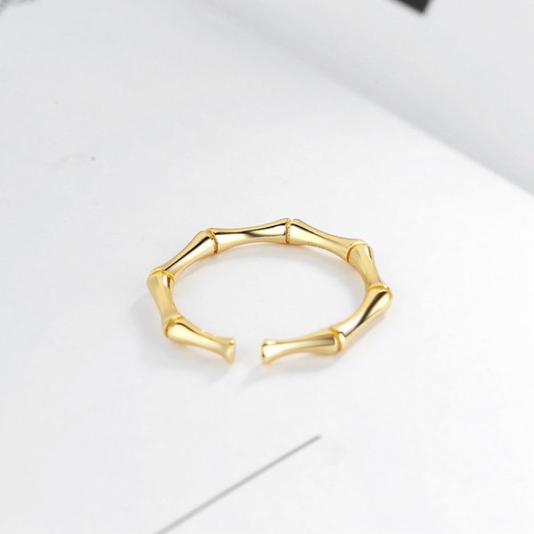 925 Sterling Silber Ring Persönlichkeit Modeschmuck Mode Temperament Einstellbare Bambusringe Als Geschenk Geben Sie Dem Mädchen