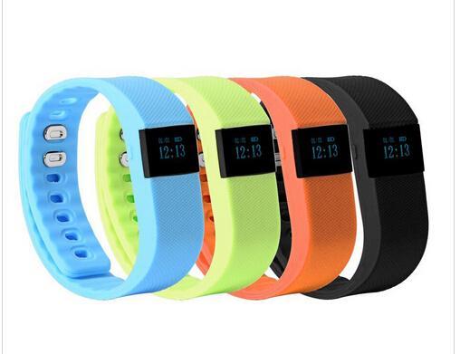 TW64 Smart Watch Fitness Activity Tracker Smartband pulsera impermeable Bluetooth 4.0 pulsera inteligente para iOS 5 colores