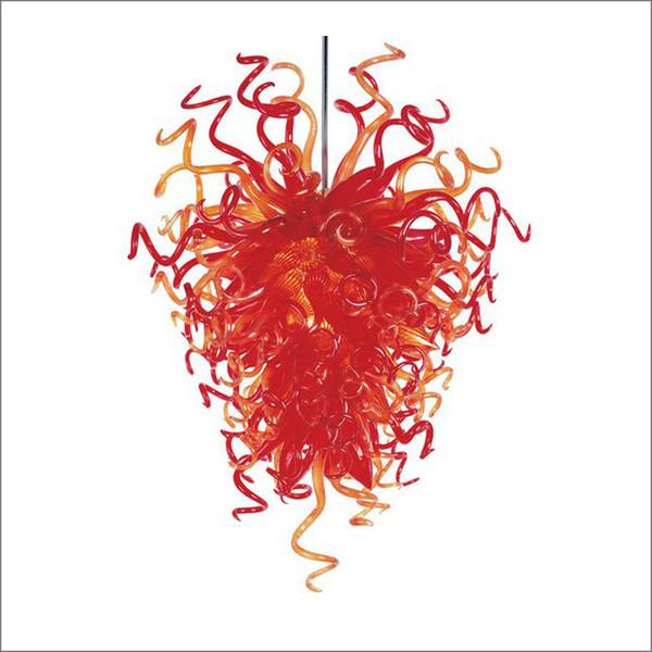 다채로운 데일 Chihuly 스타일 불어 유리 샹들리에 귀여운 소박한 스타일 놀라운 현대 불어 유리 샹들리에 천장