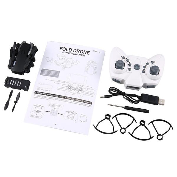 TXD G1 Drone RC mini pliable WiFi Altitude Tenir une clé Décollage Jouet de quadricoptère haute / basse vitesse à 360 degrés avec caméra 2MP