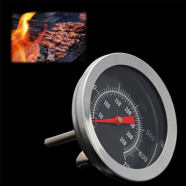 BBQ Accessories Grill Meat Thermometer Dial Temperature Gauge Gage Cooking Food Probe Household Stainless Steel Kitchen Tools