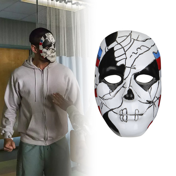 Punisher 2 Billy Russo Cosplay Maske Plastik Kostüm Cadılar Bayramı Masquerad Maske Unisex Yetişkin Cosplay Sahne Sahne