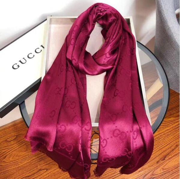 2020 El nombre del diseñador de moda carta Qualtiy Marca Bufanda Las nuevas mujeres del patrón de la bufanda de seda de lana cachemira de las señoras del diseñador bufanda de las bufandas