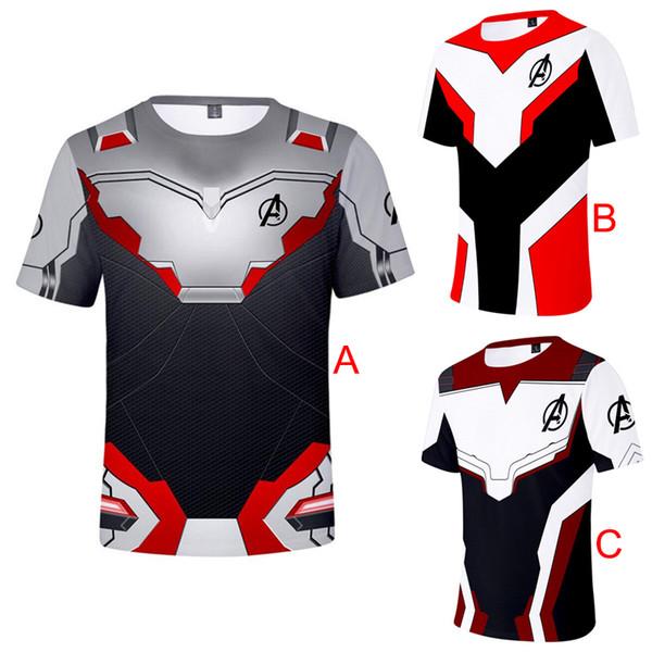 Avengers 4 Endgame Impresión 3D Camisetas Hombre Moda Camisetas Cosplay Casual Traje Camiseta Streetwear Mujeres Tees Tops XXS-4XL A4907