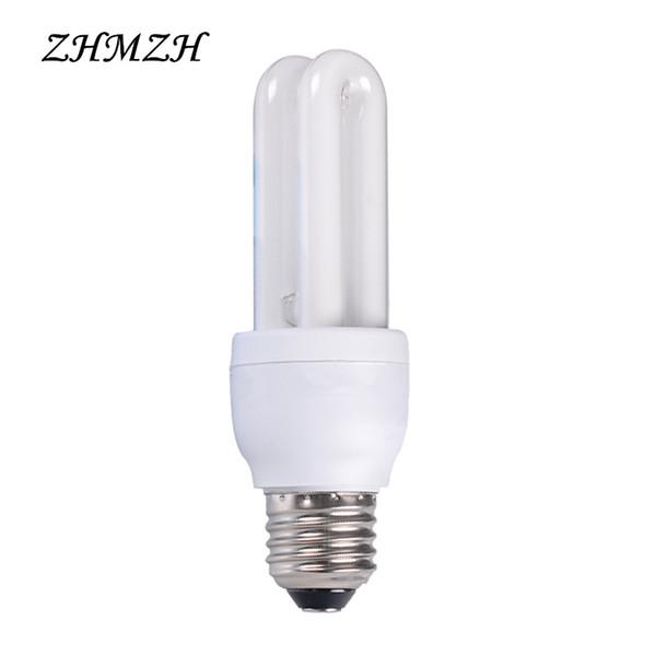220V E27 Screw Spiral Energy Saving Lamp Bulb 7W 9W 11W 13W 15W 18W 20W White 2U Energy-saving Tube Indoor Fluorescent Lighting