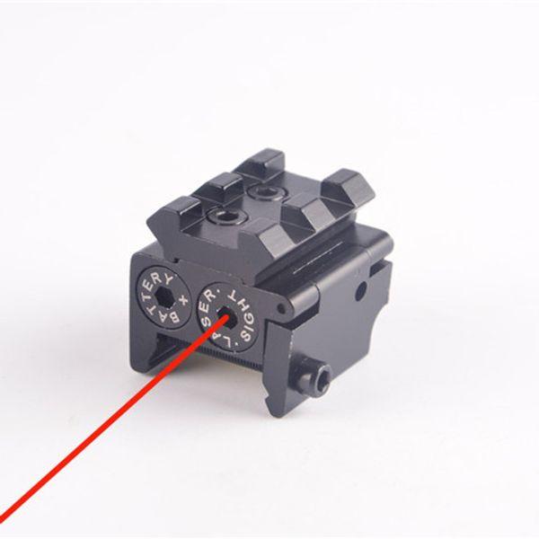Mini-lunette de visée au point tactique compact ajustable pour le pistolet pistolet avec montage sur rail 20mm