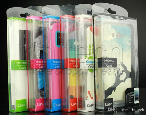 Universal Mobile Phone Package Case PVC Transparent boîte en plastique d'emballage au détail pour iPhone Samsung HTC cas de téléphone portable