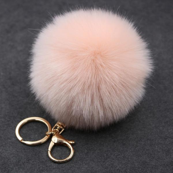 Hot Sale and Brand New Trinket Keychain Pompons Keychains Fur Keychain Fluffy Key Chains for Cars Keyrings Trinkets Pom Pom Keychain