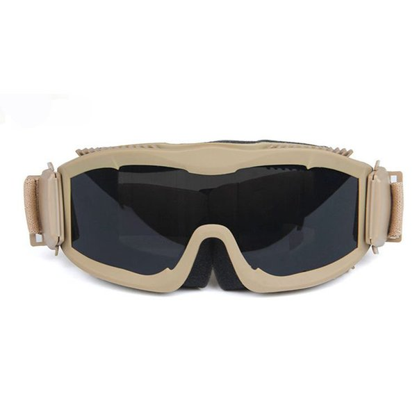 2018 military airsoft tactical goggles safety glasses army combat shooting goggles 3 lens anti-fog windproof tactical goggles thumbnail