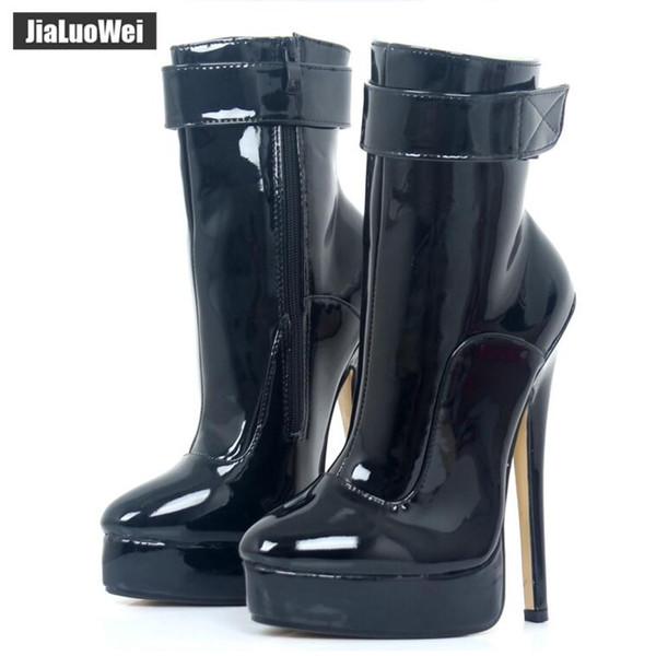 "Women Ankle Boots Ultra High Heels Fashion Sexy Shoe Woman Platform Martin Boots Strap Ladies Pole Dance Shoes Female Botas 18cm/7"""