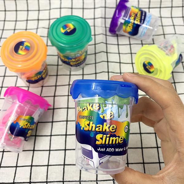 Nouveauté Bricolage Magique Cristal Slime Mastic Polymère Argile Jouet Doux En Caoutchouc Enfants Intelligent Main Pâte À Pâte à Pâte à modeler Pâte À Jouer Pâte Cadeau En Gros