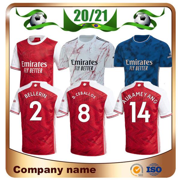 best selling 20 21 Gunners home Soccer jersey 2020 Arsen PEPE NICOLAS CEBALLOS HENRY GUENDOUZI SOKRATIS MAITLAND-NILES TIERNEY Football shirt Uniforms