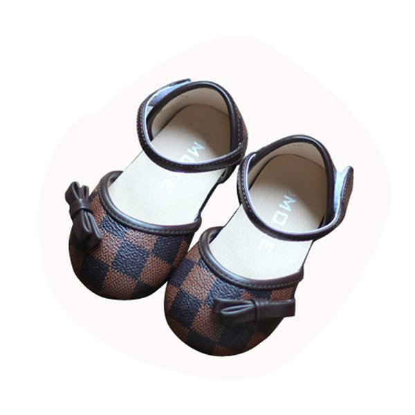 retail spring new children's baby soft bottom children's single shoes toddler PU bow kids girls shoes Free shipping