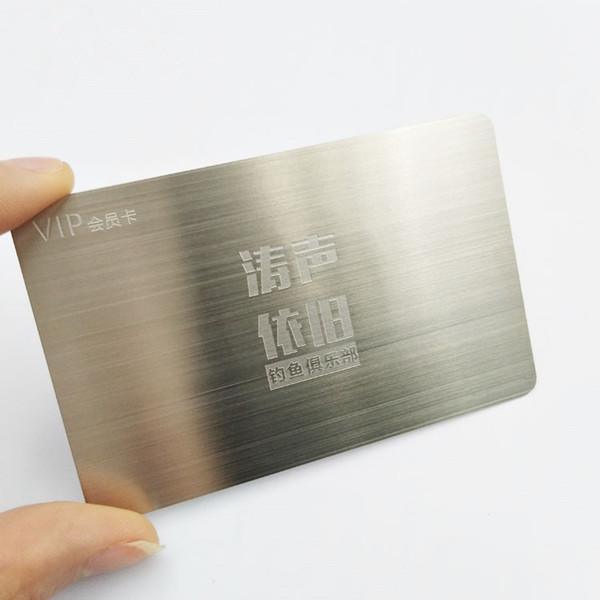 Großhandel Edelstahl Gravur Silber Metall Visitenkarte Gebürstet Von Hellen8599 150 76 Auf De Dhgate Com Dhgate