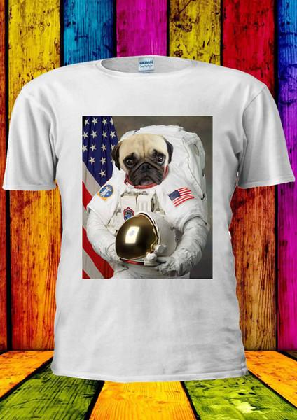 Астронавт Мопс смешные мопсы Tumblr собака футболка жилет Майка Мужчины Женщины унисекс 1299 2019 мода Майка бесплатная доставка дешевые tee