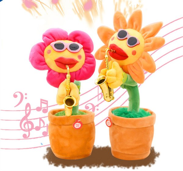 2019 Sunflower Plush Music Toys Saxophone Dance Funny Electronic Dance  Music Toy Songs Funny Party Gift From Mytoys888, $11 06 | DHgate Com