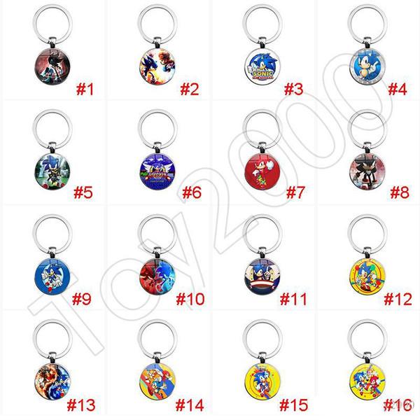 Sonic Boom Amy Rose Sticks Tails Werehog Porte-clés PVC Figurines Knuckles Dr. Eggman Anime Pop Figurines Poupées Enfants Jouets pour Enfants 12