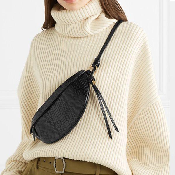Women Belt Bag PU Leather Waist Pack Wave 2019 New ins Fashion Atmosphere Half Square Bag Korean Wild Crossbody Drop Ship