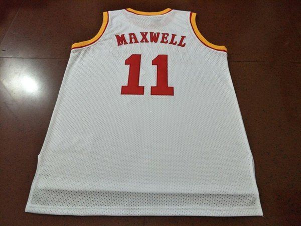 best selling Vintage #11 Vernon Maxwell Bsaketball red Jersey Size S-4XLor custom any name or number jersey