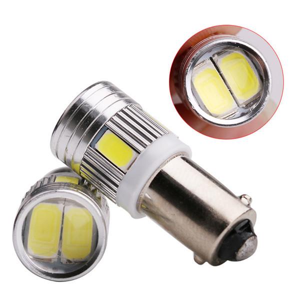 BA9S 6SMD 5630 LED Canbus lambaları Hata Ücretsiz t4w h6w Araba LED ampuller İç Işıklar Araba Işık Kaynağı park 12 V Beyaz 6000 K