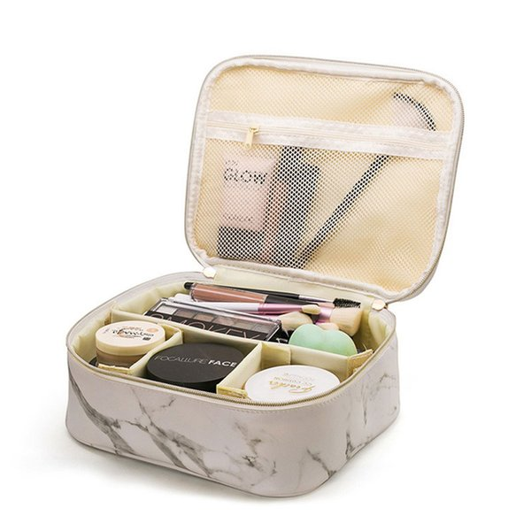 Marble Pattern Cosmetic Bags Women's Makeup Case Lipstick Toiletry Tote Suitcase Beauty Brush Pencil Pouch Supplies Accessories