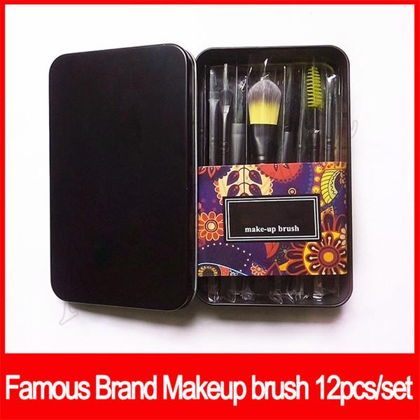 12 adet Makyaj Fırçalar Set Profesyonel Fan Pudra Fondöten makyaj Fırça Allık Karıştırma Göz Farı Dudak Kozmetik Göz Makyaj Fırçalar Seti Aracı