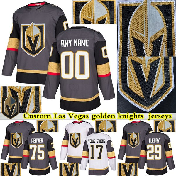 best service 5b3ed 83133 2019 2019 Vegas Golden Knights Jersey 29 Marc Andre Fleury 61 Mark Ston 75  Ryan Reaves 71 William Karlsson 17 Vegas Strong Hockey Jersey From ...
