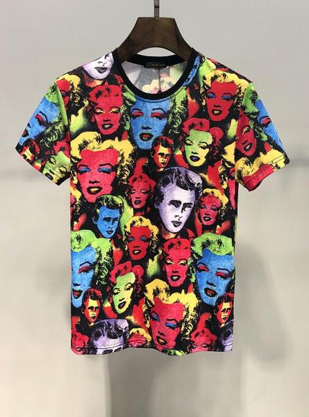 2019SS nouveau printemps / été européenne et américaine marque designer casual vêtements t-shirt taille m-3xl