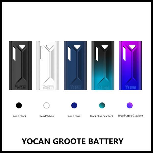 Yocan Groote Batteria 350mAh E Batteria Sigaretta Batteria Vape Mod Con Caricatore USB Per 510 Carrelli Vape Cartucce Olio Preriscaldare Batterie VV Autentiche
