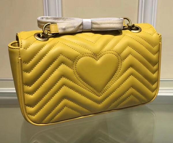 Freie Verschiffengelbfarbenfrauenbeutel Handtaschenqualität berühmte Marken Entwerfer-echtes Leder-Schulter-Beutel drei Größe
