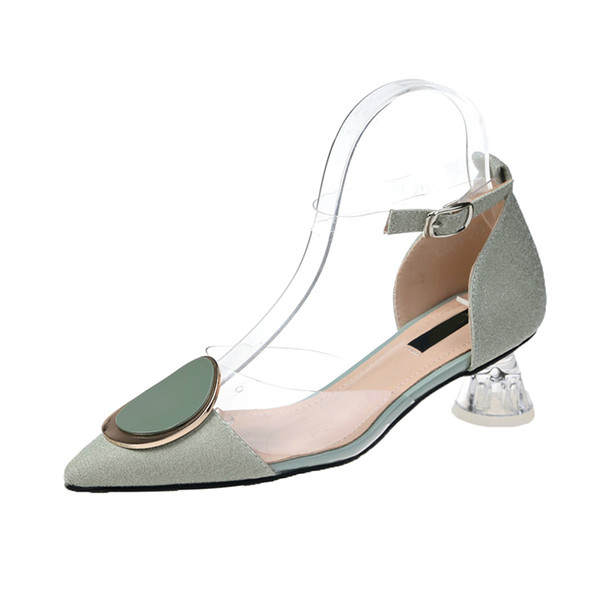 Women High Heels Summer Sexy Party Shoes Transparent PVC Pumps Summer Women Shoes Fashion Pointed Toe High Heels