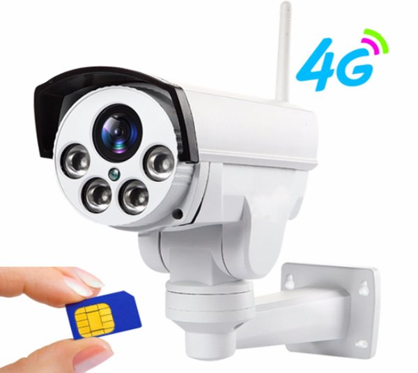 or PTZ HD Bullet Camera Wireless IP Security IR 30M Support TF Card CCTV Camera Surveillance Camcorde 3G 4G SIM Card WiFi Outdoor Cam