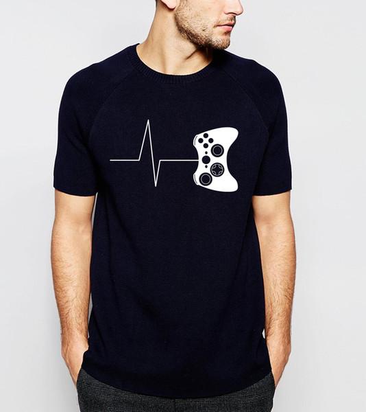 Per i giocatori T Shirt Divertente T-Shirt da gioco Camicia per videogiochi Uomo 2019 Estate Novità Novità T-shirt a maniche corte 100% cotone Top Tees