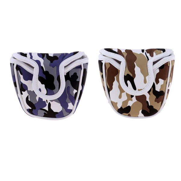 208 New Golf Mallet Head Cover Putter Club Headcover Protector w/ Magnetic Closure For all brands Blue,Brown Camouflage