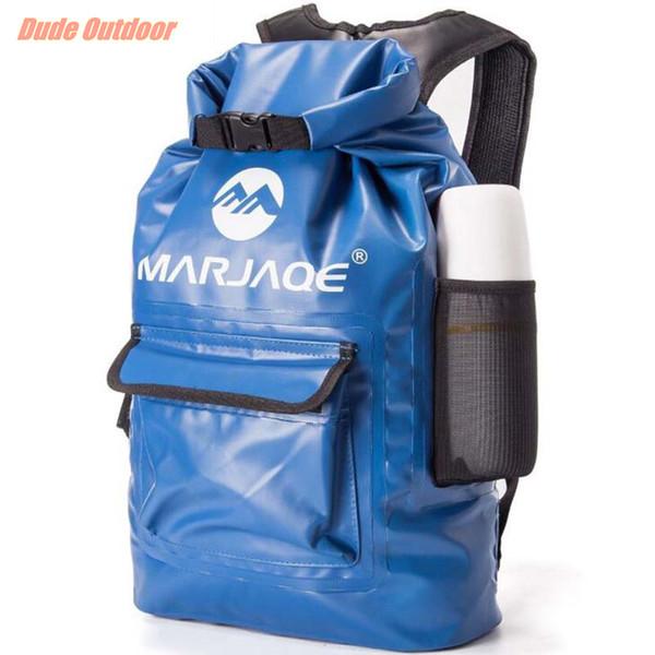 Lagerung Dry Sack Bag Outdoor Faltbare Trekking Bag Qualität PVC Wasserdichter Trockener Rucksack 20L Für Mann Frauen Schwimmen Rafting Kajak