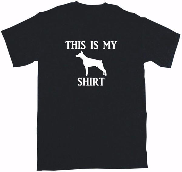 Летом 2019 года поп хлопок хлопок майка это мой доберман пинчер собака логотип мужские футболки рубашки свободный дизайн
