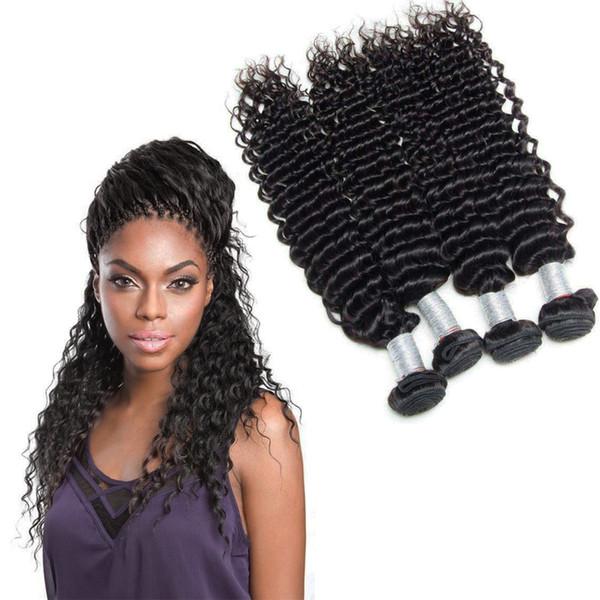 3pcs Lot 8A Brazilian Deep Weave Human Hair Weaves Beautiful 8-30 inch Hair Weave Wefts Natural Color Human Hair Bundles Promotion Sale