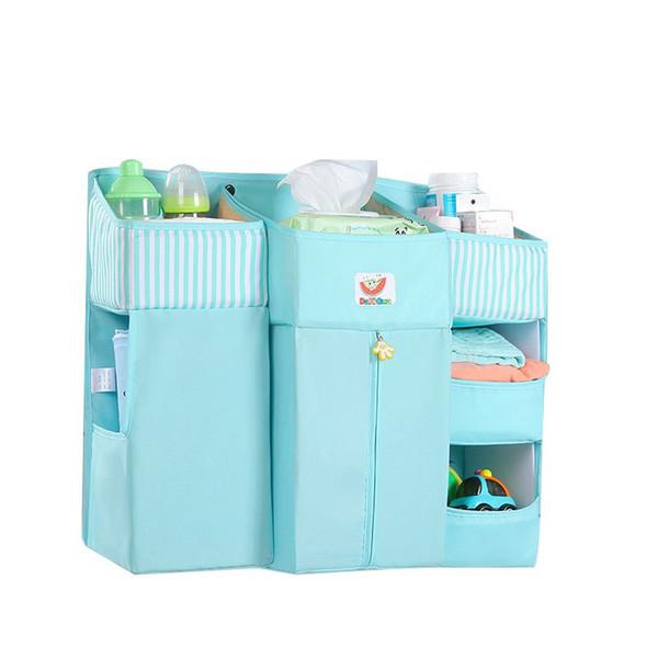 Crib Storage Bag Newborn Bed Organizer Pocket Baby Hanging Storage Bag Crib Nursing Basket Infant Bedding Set Accessories