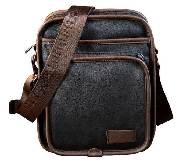 Mens Briefcase Business Bags Casual Business PU Leather Mens Messenger Bag Vintage Men's Crossbody Bag Bolsas Black Brown Shoulder Bags