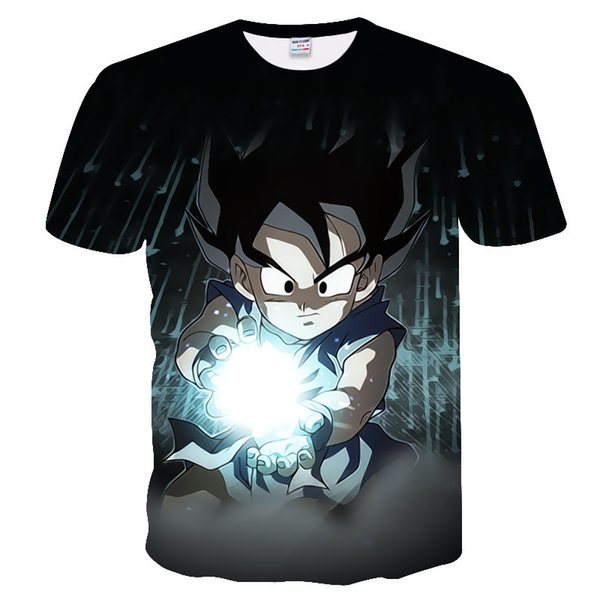 2019 New Dragon Ball Z T Shirts Men Super Saiyan Ultra Instinct Kids Goku Vegeta Printed Cartoon T-shirt Top Tees Plus Size Y19072201
