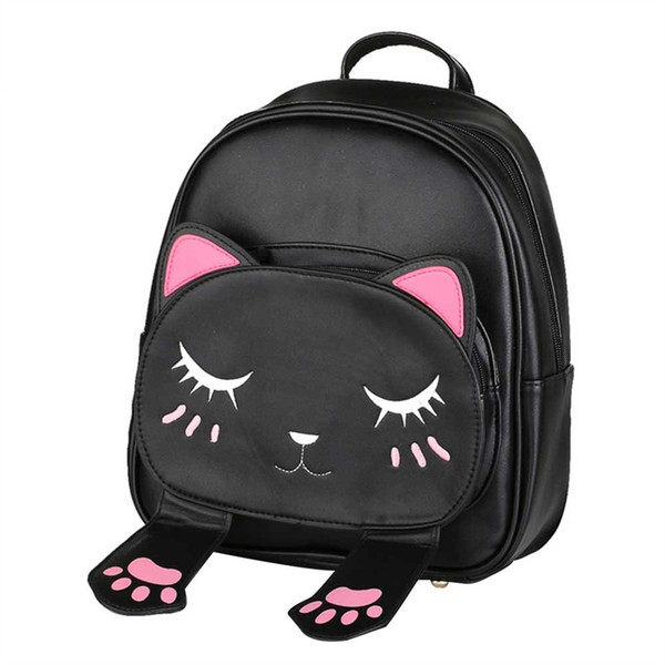 New Fashion Cat Backpack Cute Kitten Cat Shoulder Bags Student School Bag Women Travel Hot Sale Backpacks for Teenage Girls #168492