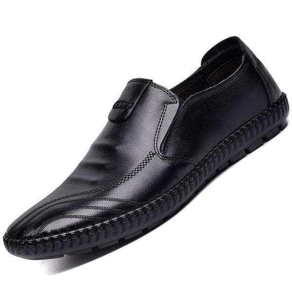 Size0207 Yeni Geldi Düğün ve Parti Ayakkabı Yeni Moda Deri Erkek Ayakkabı Moccasin Erkekler Loafer'lar Marka ayakkabı leathe için nakış moda