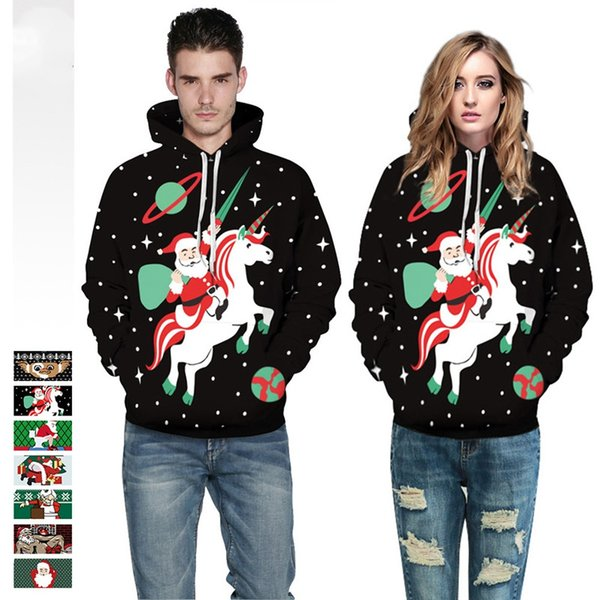 861812965fd 2019 7 Style Cute Santa Claus Unicorn 3D Hoodies Galaxy Unicorn Print  Hooded Sweatshirt Cool Hoodie Pullovers For Women Men Dropship From  Chencloth66, ...